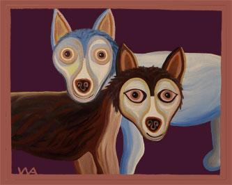 Wolfie & Sitka Huskies